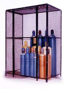 Gas Cylinder Enclosures provide indoor and outdoor security.