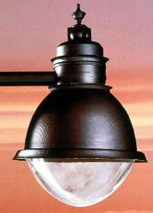 Luminaires provide outdoor and roadway lighting.