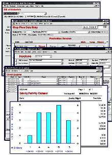 Shop Software exchanges data with QuickBooks® Pro 2002/2003.