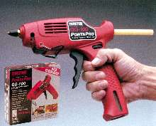 Glue Gun features cordless design.