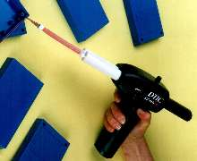 Two-Part Adhesive Gun dispenses fine bead without shaking.