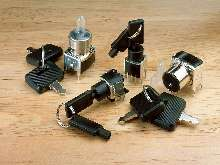 Keylock Switches suit high-density mounting applications.