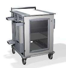Enclosed Cart measures 24 x 28 in.