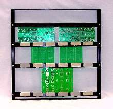 Frame/Rack Assembly holds PCBs or stencil foils for cleaning.