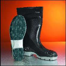 Footwear provides slip resistance in slick conditions.