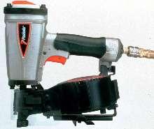 Pneumatic Nailer handles asphalt and fiberglass shingles.