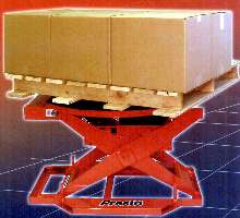 Pneumatic Leveler automatically adjusts pallet height.