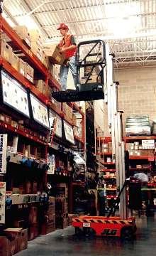 Stock Picker provides overhead access.