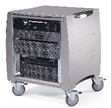 Rack System accommodates various brands of equipment.