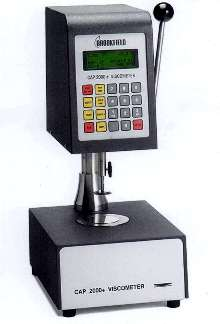 Variable-Speed Viscometer offers range of 5-1,000 poise.