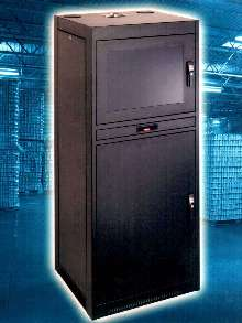 Cabinet houses and protects remote site PCs.