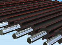 Conveyor Roller handles cut sheet paper stacks.