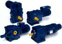 Gearmotors are suited for harsh industrial applications.