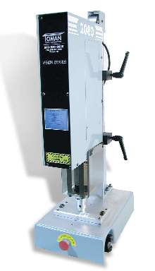 Spin Welder features touch screen control interface.