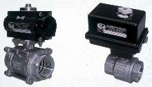 Ball Valves are pneumatically/electrically actuated.