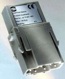 Connector contains integrated electronics.