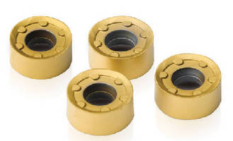 Indexable Milling Inserts include anti-rotation feature.
