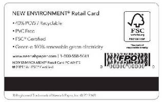 Stored-Value Retail Card features 100% paper-based design.