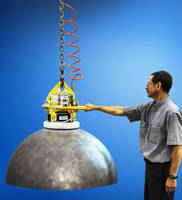 Vacuum Lifter handles domes and spheres up to 2,000 lb.