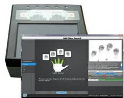 Electronic Fingerprint System allows DOD-compliant applications.