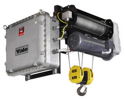 Electric Wire Rope Hoist comes in explosion proof version.