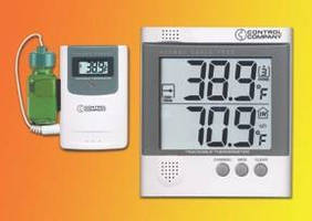 Refrigerator Thermometer wirelessly captures temperature data.