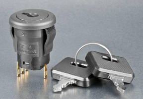 Miniature Anti-Static Keylock Switches feature snap-in design.