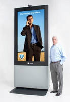 Interactive LCD System is IP65-rated for outdoor advertising.