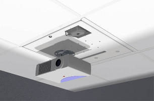 Ceiling-Mounted Enclosure secures network equipment.