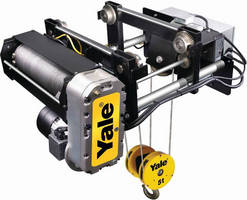 Yale Now Offering Canadian Quick Ship Program on the Global King Electric Wire Rope Hoist
