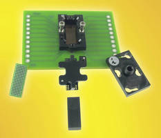 BGA Circuit Socket mounts to PCB without soldering or screws.