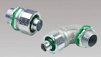Flexible Conduit is available with steel liquid tight connectors.
