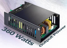 Compact 360 W AC/DC Power Supply offers up to 93.5% efficiency.