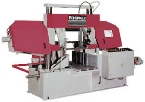 Automatic Bandsaw cuts bars and pipes with minimal vibration.