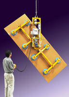 Vacuum Lifter-Tilter features powered tilting and rotation.