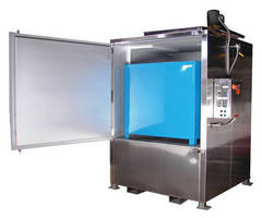 Electric Tote Warming Oven incorporates spill containment.