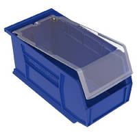 Plastic Storage Bins feature crystal clear lids.