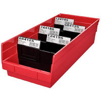 Divider Label Tabs optimize bin content identification.