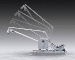 Tilt-Down Flexible Screw Conveyor features sanitary design.
