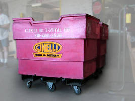 Collection Carts and Bulk Containers feature fork safety tubes.