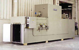 Gas-Heated 350°F Walk-In Oven cures carbon/epoxy components.