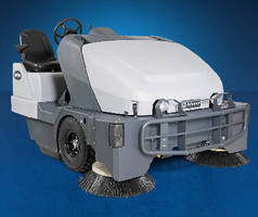 Rider Sweeper provides dust control both indoors and out.