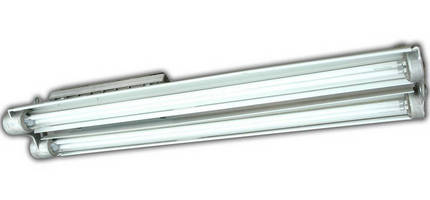 Low-Profile Explosion-Proof Fluorescent Light outputs 20,000 lm.