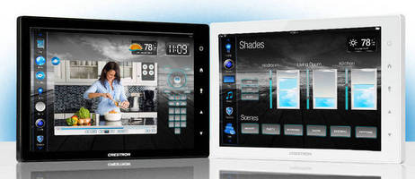 Crestron TSW-1050 Touch Screen Delivers Stunning Graphics and a Beautiful Tablet-Size Design