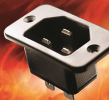 Appliance Inlet withstands temperatures to 155°C.