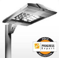 Large Area LED Luminaires illuminate parking lots and roadways.