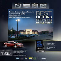 Seven Leading Brands from Hubbell Lighting Showcase Energy Savings Solutions for Dealerships at 2013 NADA Convention