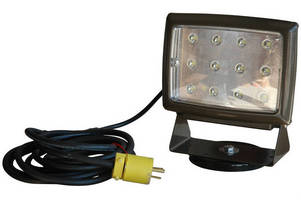 LED Blasting Light stays in place with magnetic mounting base.