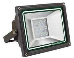 Lightweight LED Flood Light adapts to 12 or 24 Vdc input.
