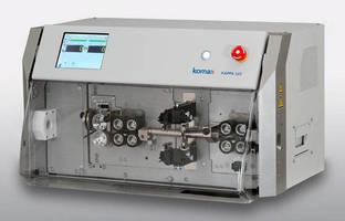 Cut-and-Strip Machine accelerates wire processing.